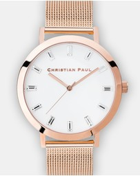 Christian Paul - Whitehaven Luxe Mesh Collection 43mm Watch