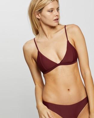 Rusty Stella Series Fixed Tri Bikini Top - Bikini Tops (Sangria)