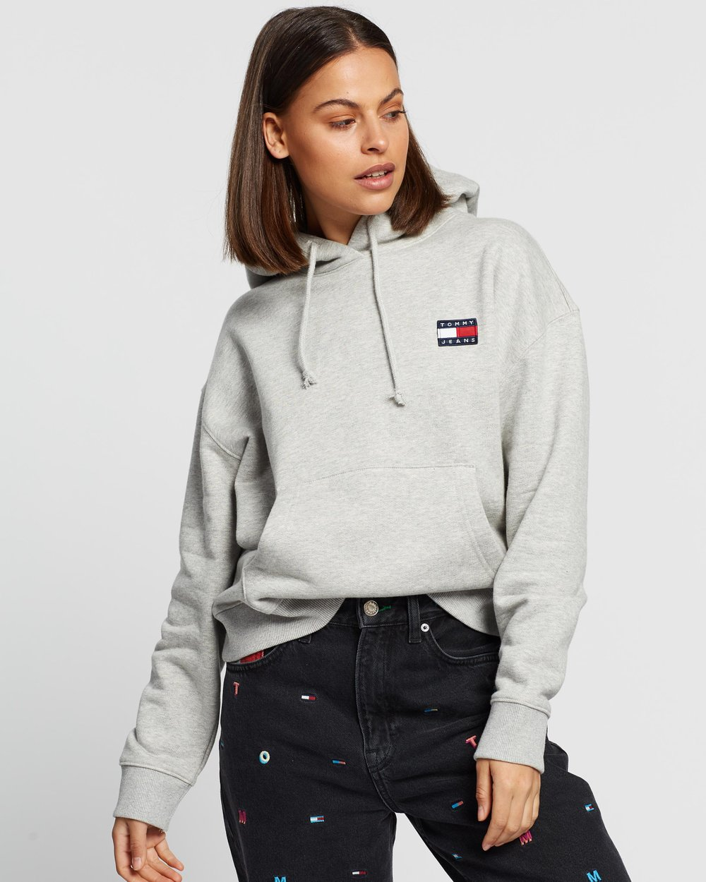 Tommy Badge Hoodie By Tommy Jeans Online Oft Gov Australia