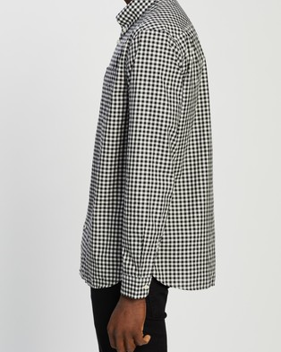 Fred Perry Gingham Long Sleeve Shirt - Casual shirts (Black)