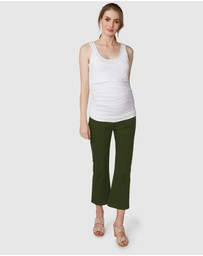 Pea in a Pod Maternity - Saylor Cropped Flare Jeans