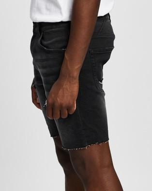 Nena & Pasadena Rawlins Denim Shorts - Denim (Heavy Metal Black)