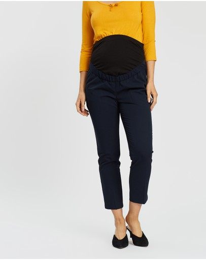 Dp Maternity Over-bump Ankle Grazer Pants Navy