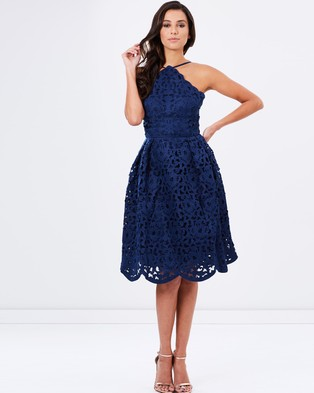 Chi Chi London – The Lucienne Dress – Bridesmaid Dresses Navy