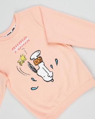 Puma Puma x Peanuts Minicats Crew & Jogger Set   Babies Kids - Sweats (Apricot Blush)