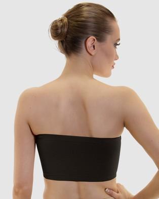 B Free Intimate Apparel Strapless Bandeau Bra   3 Pack - Strapless Bras (2 Black 1 Nude)