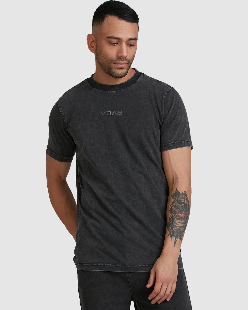 RVCA - Rvca Mini Flipped Short Sleeve Tee - T-Shirts & Singlets (BLACK ACID) Rvca Mini Flipped Short Sleeve Tee