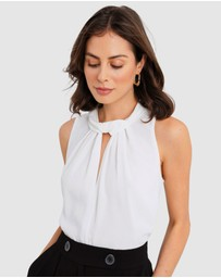 Forcast - Hailey Twist Neck Top