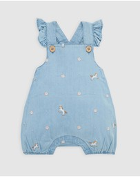 Purebaby - Chambray Short Overalls - Babies