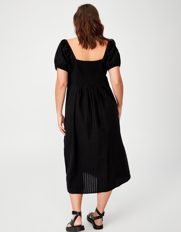 Women Sara Square Neck Midi Dress
