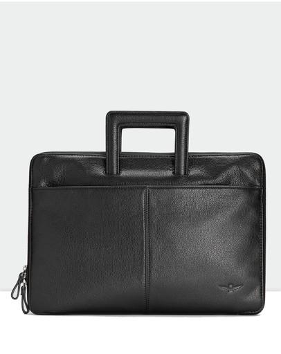 Aquila Montoro Slim Briefcase Black