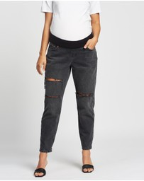 TOPSHOP Maternity - Maternity Ripped Mom Tapered Jeans