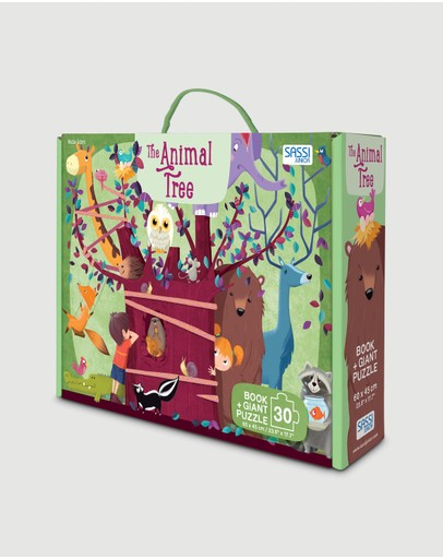 Sassi - The Animal Tree Puzzle and Book Set