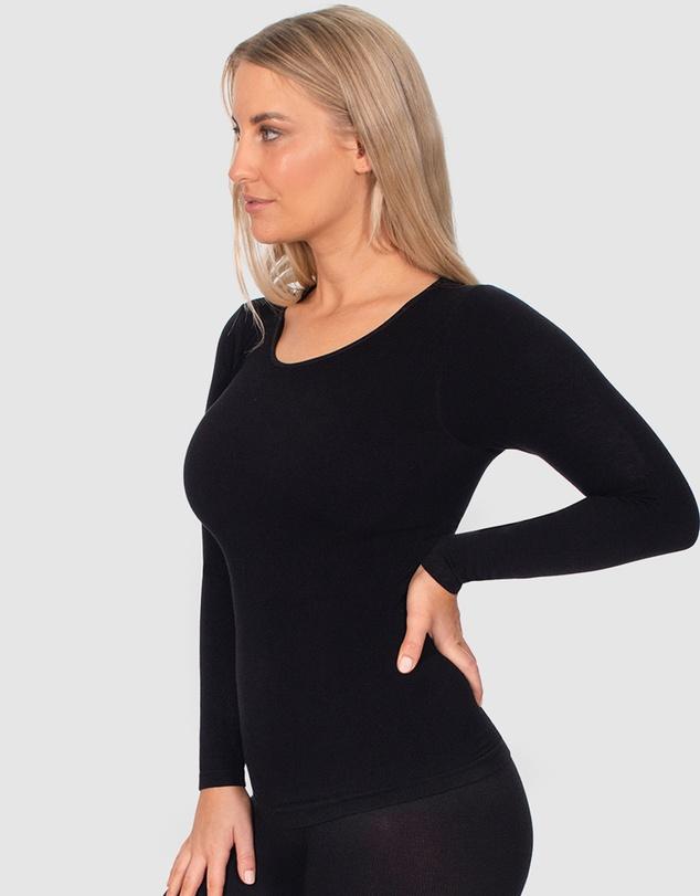 Women Seamless Long Sleeve Thermal Top