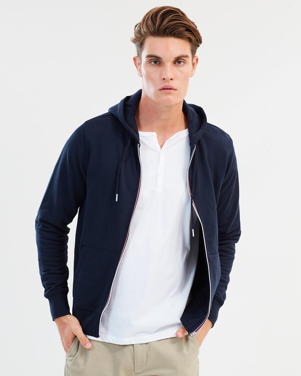 08caf03f Core Cotton Zip Hoodie by Tommy Hilfiger Online | THE ICONIC | Australia