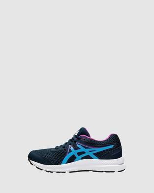 ASICS Contend 7 Grade School - Lifestyle Shoes (French Blue/Digital Aqua)