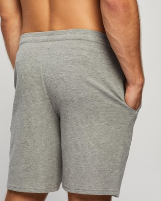 Marks & Spencer Waffle Shorts - Sleepwear (Grey)