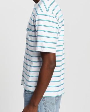 Everloom - SS Retro Stripe Tee T-Shirts & Singlets (White Multi)