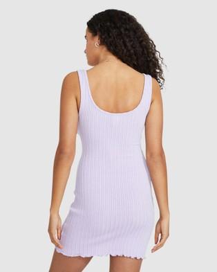 Dont Ask Amanda Peta Pointel Knit Fitted Dress - Dresses (LILAC)