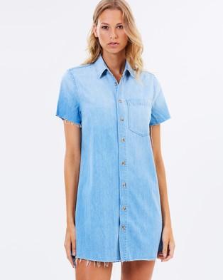 Mother Denim – Frenchie Crop Step Dress – Dresses (Car Wash)