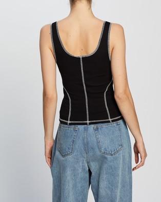 Dazie The Edit Overstitch Cami - T-Shirts & Singlets (Black)