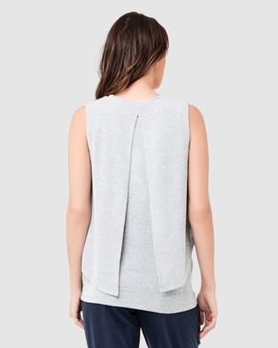 Ripe Maternity Swing Back Nursing Tank - T-Shirts & Singlets (Ash)