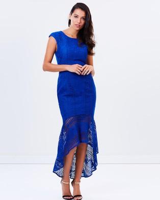 Romance by Honey and Beau – Ellie Lace Flip Dress Blue