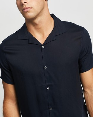 Abercrombie & Fitch Short Sleeve Bowling Shirt - Casual shirts (Navy)