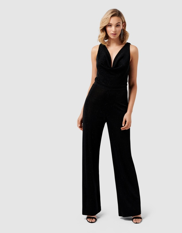 Forever New - Willa Metallic Cowl Jumpsuit