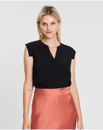 Marcs - Pleats Please Me Silk Mix Top