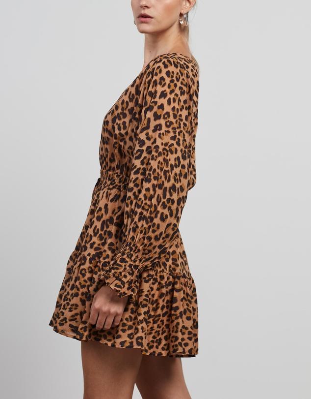 Women Hazel Leopard Cotton Mini Dress