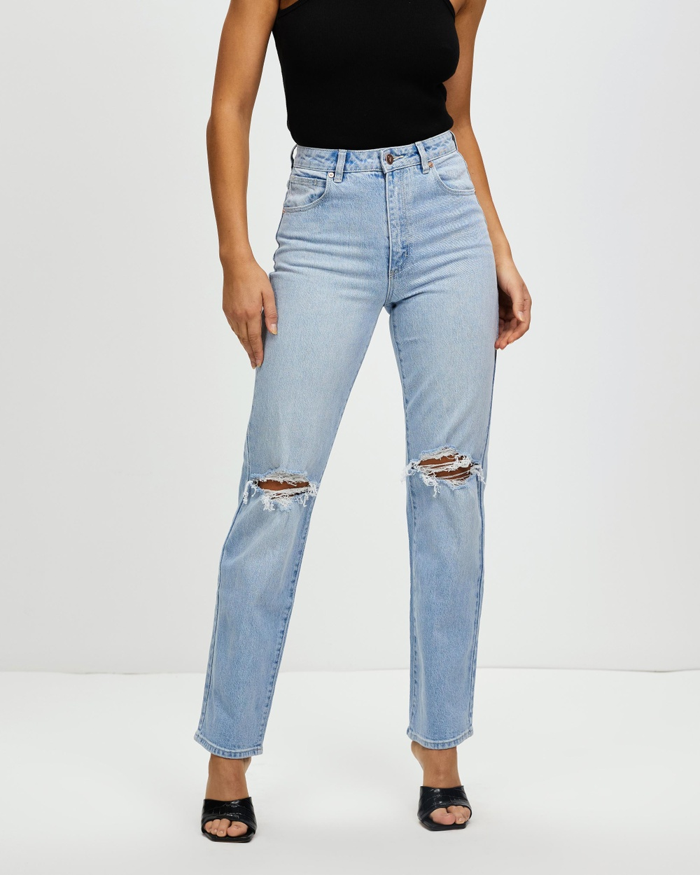 Abrand A '94 High Straight Jeans High-Waisted Gina Rip