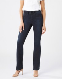 Jeanswest - Tummy Trimmer Slim Bootcut Jeans Brushed Indigo