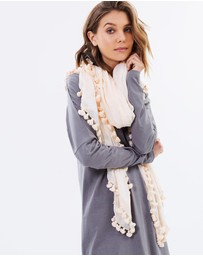 Cloth & Co. - Hand Loomed Pom Pom Scarf