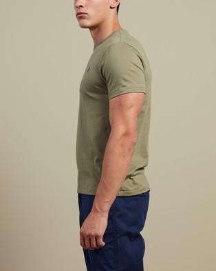 Polo Ralph Lauren - ICONIC EXCLUSIVE   Custom Slim Fit Short Sleeve T Shirt - T-Shirts & Singlets (Sage Green) ICONIC EXCLUSIVE - Custom Slim Fit Short Sleeve T-Shirt