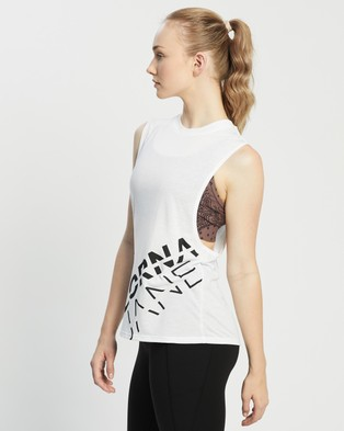 Lorna Jane Fly Girl Tank Muscle Tops White