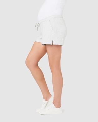 Ripe Maternity Organic Jersey Shorts - Sleepwear (Silver Marle)