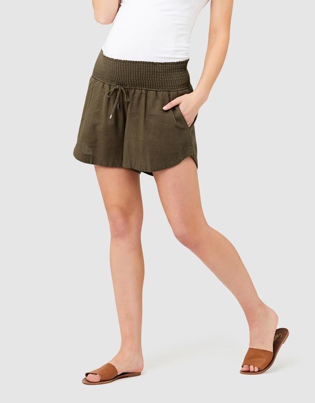 Women Byron Shirred Shorts