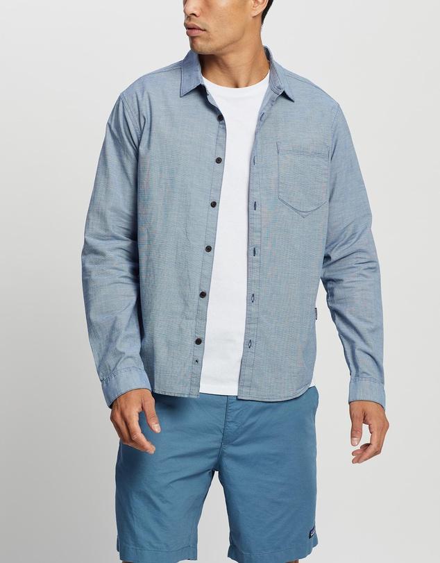 Men LS Organic Cotton Slub Poplin Shirt