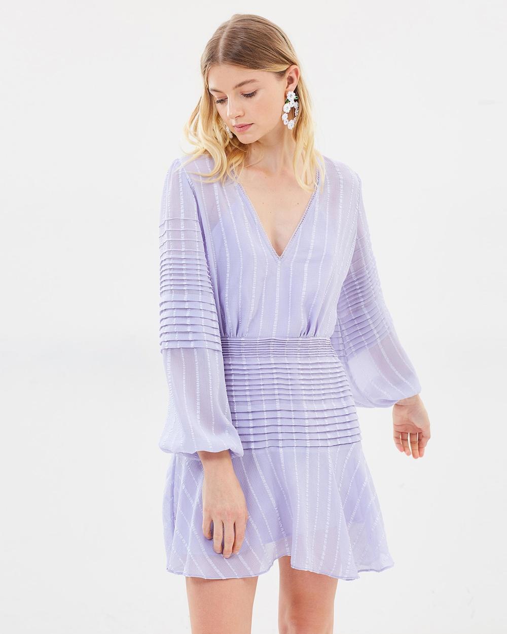 Talulah Chaleur Long Sleeve Mini Dress Dresses Lavander Chaleur Long Sleeve Mini Dress
