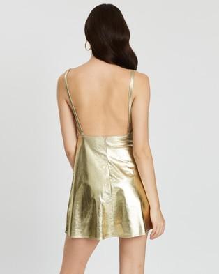 LENNI the label Astral Dress - Dresses (Gold Faux Suede)