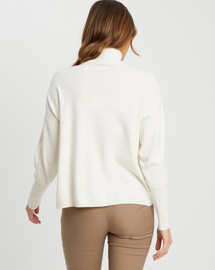 Tussah Andria Knit Top - Jumpers & Cardigans (Ivory)