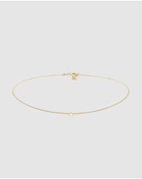 Elli Jewelry - Necklace Choker Star Astro 925 Silver Gold-Plated