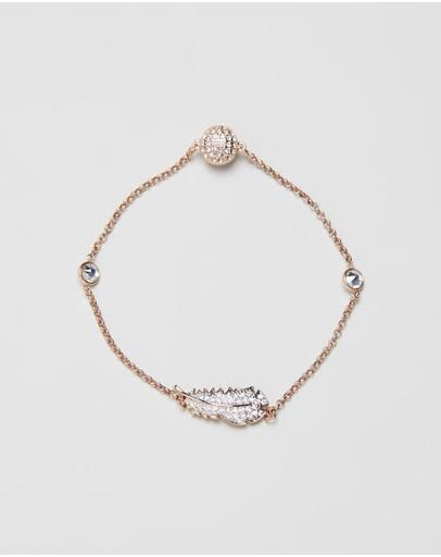 Swarovski Remix Collection Feather Bracelet Rose Gold