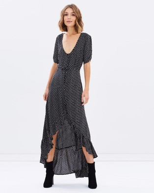 Auguste – Delilah Maxi Penelope Polka Dress – Dresses (Black)