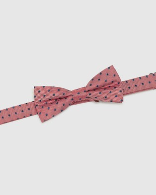 Oxford Polka Dot Silk Bow Tie - Ties (Red)