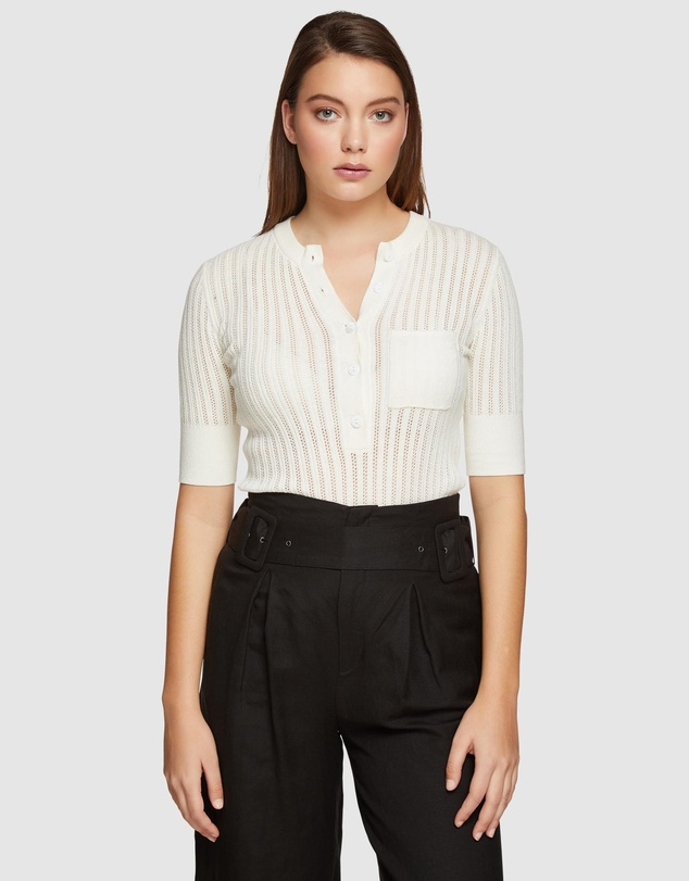 Oxford - Lara Rib Knitted Top