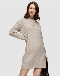 TOPSHOP - Plaited Crew Neck Knitted Dress