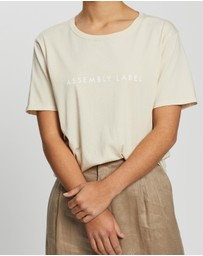 Assembly Label - Logo Cotton Crew Tee
