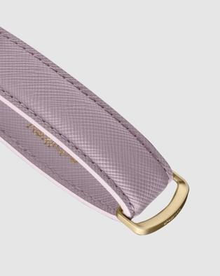 Orbitkey Key Organiser Saffiano - Key Rings (Purple)